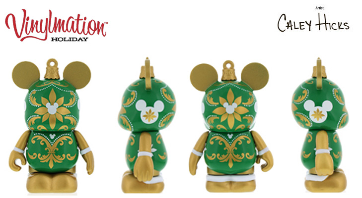 Vinylmation Open And Misc Holiday Green, Gold, White