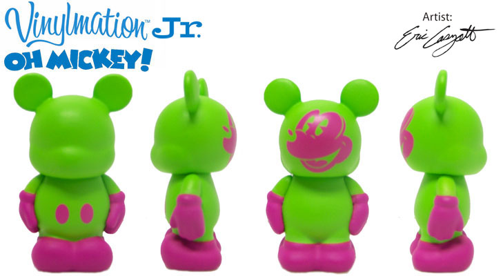 Vinylmation Open And Misc Oh Mickey! Jr Green / Pink