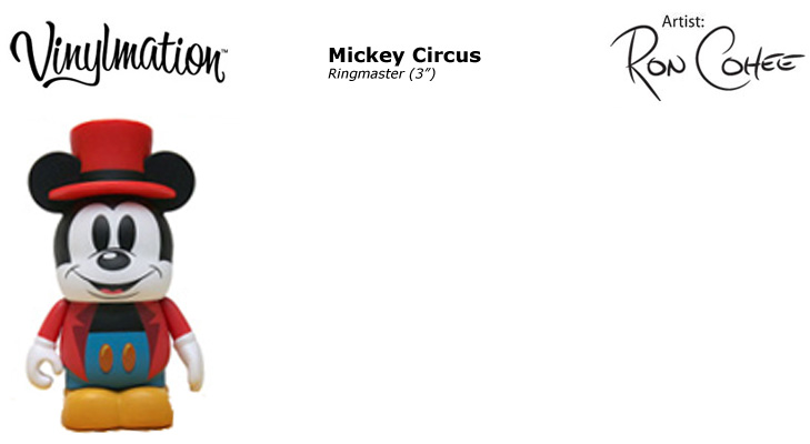 Vinylmation Open And Misc Mickey's Circus Ringmaster Mickey