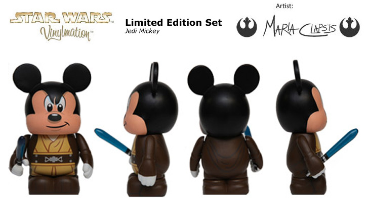 Vinylmation Open And Misc Star Wars Disney Set 1 Jedi Mickey