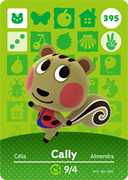 Amiibo Cards Animal Crossing Series 4 Cally