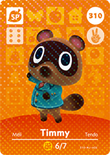 Amiibo Cards Animal Crossing Series 4 Timmy