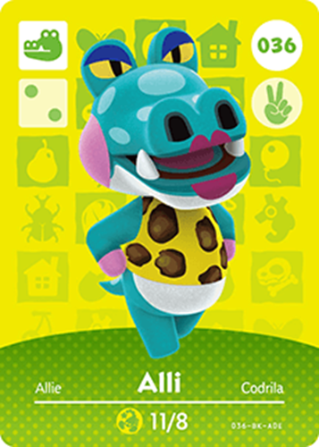 Amiibo Cards Animal Crossing Series 1 Alli