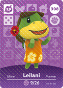 Amiibo Cards Animal Crossing Series 4 Leilani
