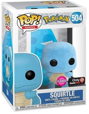 Funko Pop! Games Squirtle (Flocked) Stock