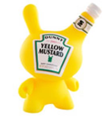 Kid Robot Special Edition Dunny Yellow Mustard Stock