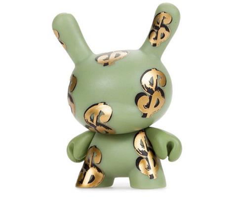 Kid Robot Blind Boxes Andy Warhol Series 1 Dollar Signs (Gold)