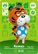 Amiibo Cards Animal Crossing Series 4 Rowan