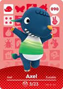 Amiibo Cards Animal Crossing Series 1 Axel