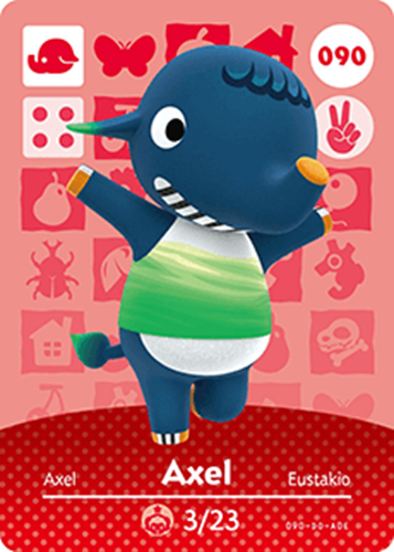 Amiibo Cards Animal Crossing Series 1 Axel Icon