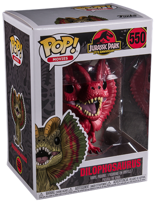 Funko Pop! Movies Dilophosaurus (Red) Stock Thumb