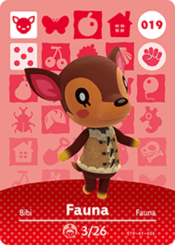 Amiibo Cards Animal Crossing Series 1 Fauna Icon