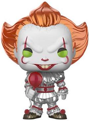 Funko Pop! Movies Pennywise (w/ Balloon) - Metallic