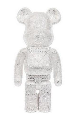 Be@rbrick Misc White Crystal Christmas 1000%