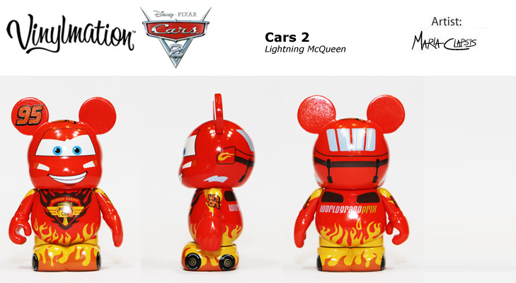 Vinylmation Open And Misc Cars 2 Lightning McQueen