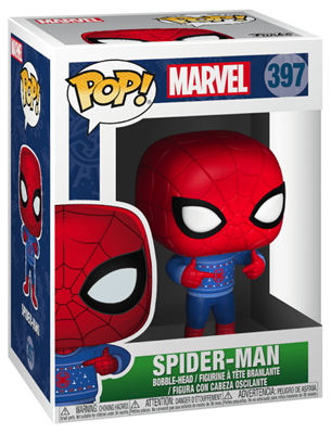 Funko Pop! Marvel Spider Man (Christmas Sweater) Stock