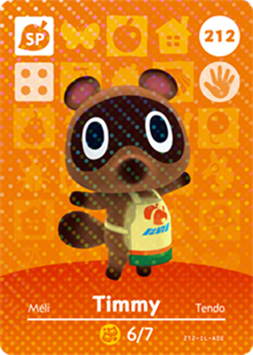 Amiibo Cards Animal Crossing Series 3 Timmy