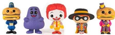 Funko Pop! Ad Icons Officer Mac / Grimace / Ronald McDonald / Hamburglar / Mayor McCheese (5-Packs)