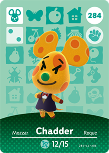 Amiibo Cards Animal Crossing Series 3 Chadder
