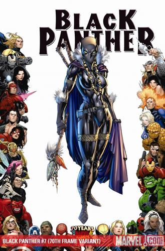 Marvel Comics Black Panther (2008 - 2010) Black Panther (2008) #7 (70TH FRAME VARIANT) Icon