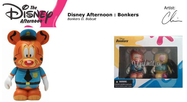 Vinylmation Open And Misc Disney Afternoon Bonkers D. Bobcat