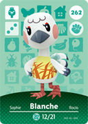 Amiibo Cards Animal Crossing Series 3 Blanche