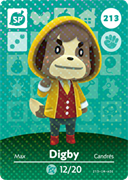 Amiibo Cards Animal Crossing Series 3 Digby