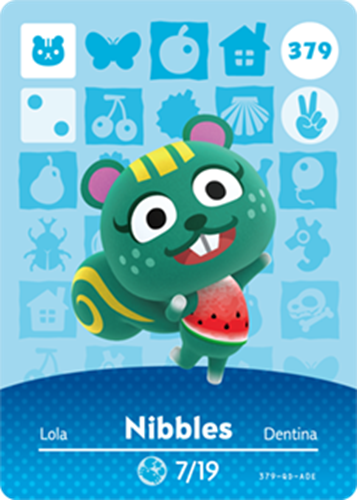 Amiibo Cards Animal Crossing Series 4 Nibbles