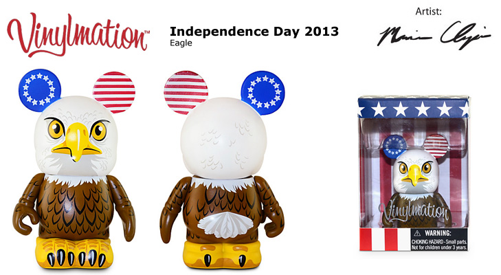 Vinylmation Open And Misc Holiday Independence Day Eagle 2013