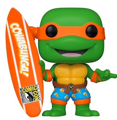 Funko Pop! Television Michelangelo with Surfboard