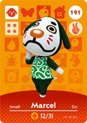 Amiibo Cards Animal Crossing Series 2 Marcel