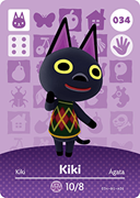 Amiibo Cards Animal Crossing Series 1 Kiki