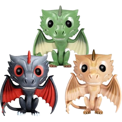Funko Pop! Game of Thrones Drogon, Rhaegal & Viserion