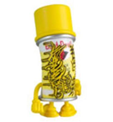 Kid Robot Blind Boxes Bent World Spray Can Yellow (Spent)