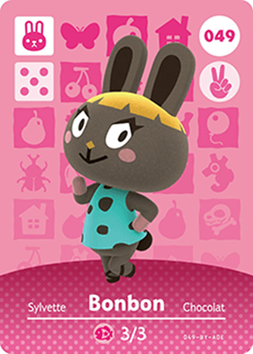 Amiibo Cards Animal Crossing Series 1 Bonbon Icon