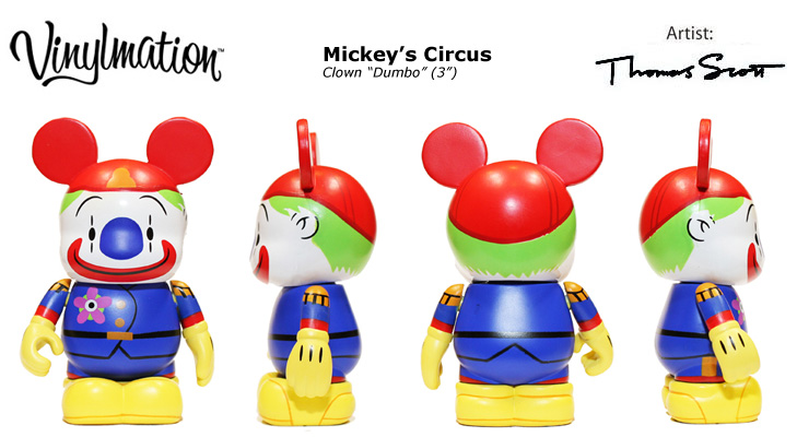 Vinylmation Open And Misc Mickey's Circus Clown Dumbo 3