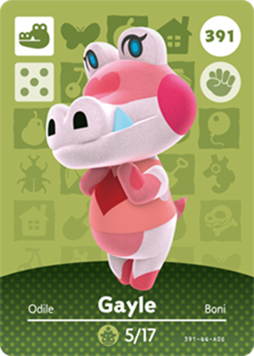 Amiibo Cards Animal Crossing Series 4 Gayle