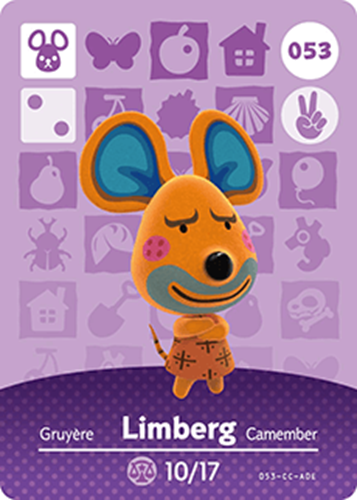 Amiibo Cards Animal Crossing Series 1 Limberg