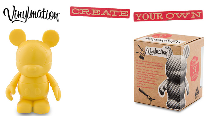 Vinylmation Open And Misc Create Your Own Yellow