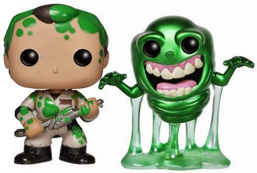 Funko Pop! Movies Dr. Peter Venkman (Slimed) & Slimer (Metallic)