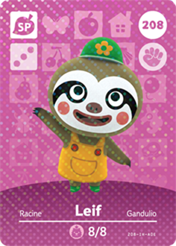 Amiibo Cards Animal Crossing Series 3 Leif
