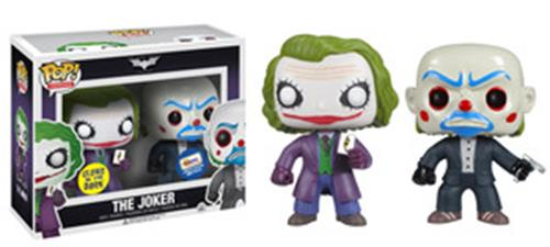 Funko Pop! Heroes The Joker & Bank Robber Joker (The Dark Knight) (Glow in the Dark) Stock
