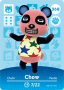 Amiibo Cards Animal Crossing Series 4 Chow