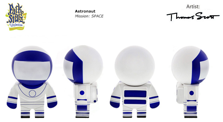 Vinylmation Open And Misc Park Starz 3 Astronaut 'blue'