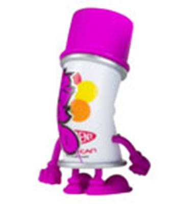Kid Robot Blind Boxes Bent World Spray Can Purple (Spent)