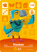 Amiibo Cards Animal Crossing Series 2 Keaton