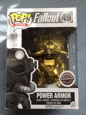 Funko Pop! Games Power Armor (Gold) Stock