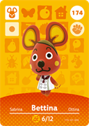 Amiibo Cards Animal Crossing Series 2 Bettina