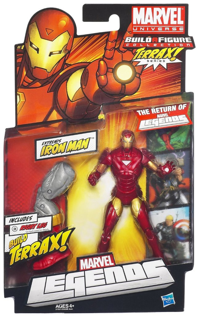 Marvel Legends Terrax Series Iron Man (Red Variant)