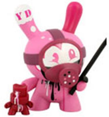 "Kid Robot 8"" Dunnys Tag Team (Pink)"